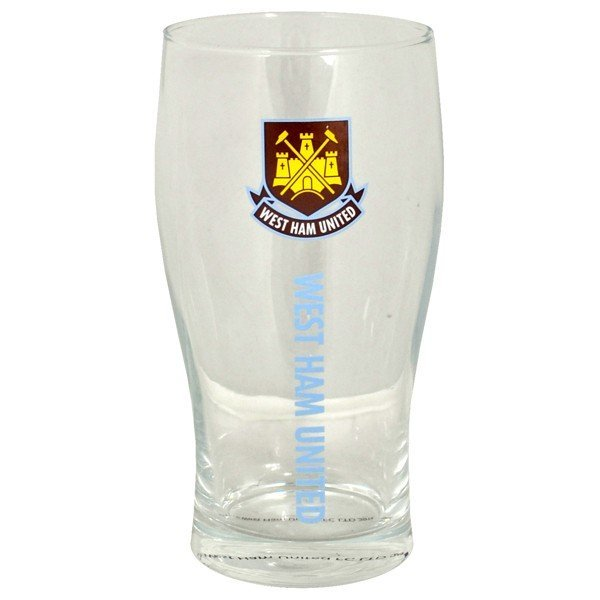 West Ham Wordmark Crest Pint Glass