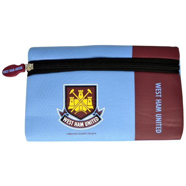 West Ham Wordmark Flat Pencil Case