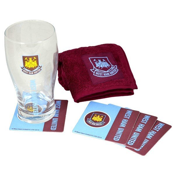 West Ham Wordmark Mini Bar Set