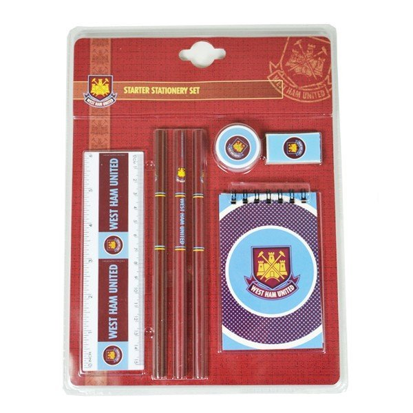 West Ham Wordmark Starter Stationery Set