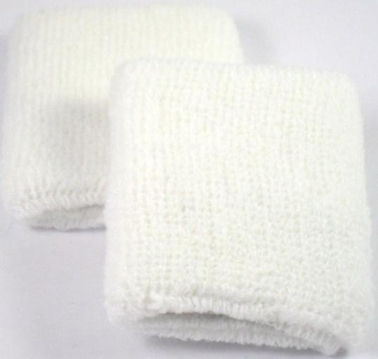 Plain White Sweatband / Armband