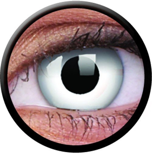 Crazy Halloween Contacts geo cpf3 blood red halloween contact lens 1 Day Use Colourvue Whiteout Coloured Contact Lenses