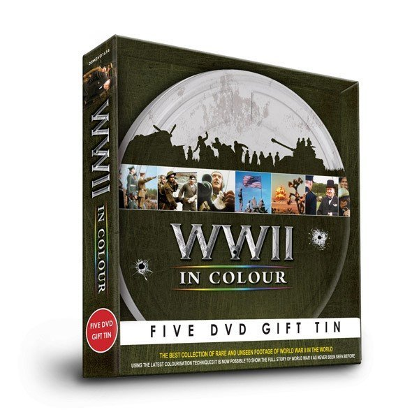 World War II Five DVD Gift Tin