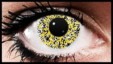 Yellow Glimmer Crazy Coloured Contact Lenses (90 days)