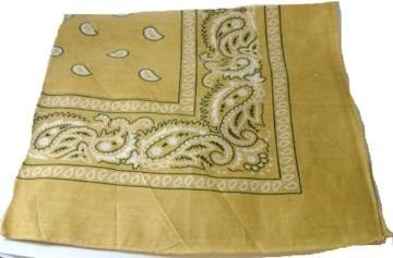 Yellow Gold Paisley Bandana Head Scarf