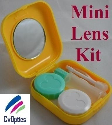 Yellow Mini Contact Lens Travel Kit