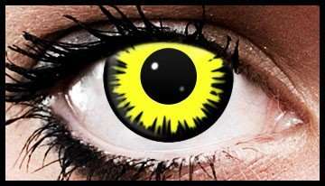 Yellow Mirage Crazy Coloured Contact Lenses (90 Days)