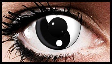 Yin Yang Crazy Coloured Contact Lenses (90 days)