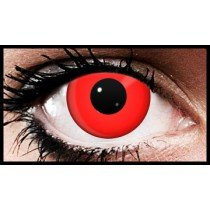 Funky Eyes Red Crazy Coloured Contact Lenses (90  Day Lenses)