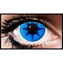 Blue Spikes Crazy Coloured Contact Lenses (90 Days)