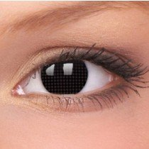 Black Screen Crazy Colour Contact Lenses (1 Year Wear)