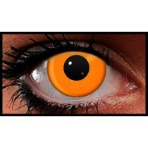 Orange UV Reactive Crazy Coloured Contact Lenses (90 Days)