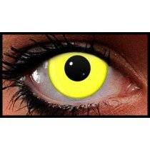 Yellow UV Reactive Crazy Coloured Contact Lenses (90 Day)