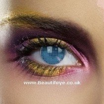 EDIT Colour Vision Blue Mesh Contact Lenses