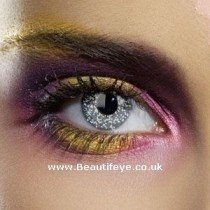 EDIT Colour Vision Glimmer Black Silver Contact Lenses