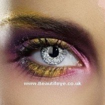 EDIT Colour Vision Glimmer Silver Contact Lenses
