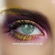 EDIT Colour Vision Green Mesh Contact Lenses