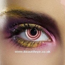 EDIT Crazy Red Spiral Contact Lenses