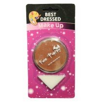 Brown Fancy Dress Halloween Party Makeup Face Paint With Sponge