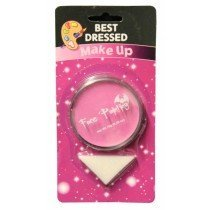 Pinky Purple Fancy Dress Halloween Party Makeup Face Paint With Sponge