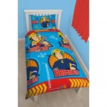 Fireman Sam Brave Reversible Single Duvet