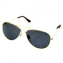 Gold Frame Aviator Sunglasses Dark Shades UV400 Protection ld2831g