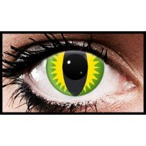 Green Lizard Crazy Coloured Contact Lenses (90 days)