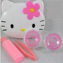 Hello Kitty Lens Travel Kit Ideal For Coloured Contact Lenses