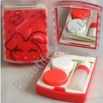 Lovely Rabbit Designer Contact Lens Travel Kit With Mirr