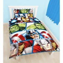 Marvel Avengers Shield Reversible Single Duvet