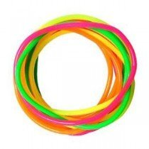Set Of 12 Assorted Neon Gummy Band Bracelets