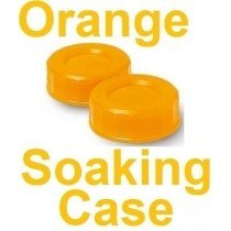 Neon Orange Contact Lens Soaking/Storage case