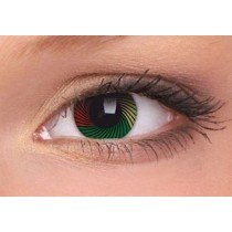 Rasta Crazy Colour Contact Lenses (1 Year)
