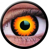1 Day Use Orange Werewolf Crazy Colour Contact Lenses
