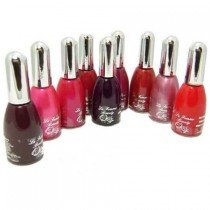 La Femme Set of 9 Nail Polish In Reds And Pinks Set Tray 6