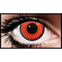 Red Burst Crazy Coloured Contact Lenses (90 Days)