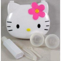 White Hello Kitty Contact Lens Storage Soaking Travel Kit