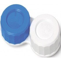 Standard Blue And White Contact Lens Soaking Storage Case