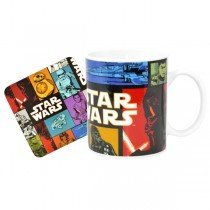 Star Wars Force Awakens Retro Mug and Coaster Set