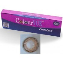 5 Pairs Of Daily Wear TruBlends Hazel Coloured Contact Lenses