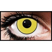 Yellow Manson Crazy Coloured Contact Lenses (90 Days)