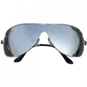 Silver Mirror Wrap Aviator Sunglasses Shades UV400 Protection a30087