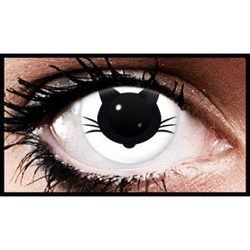Black Cat Crazy Coloured Contact Lenses (90 Day Lenses)