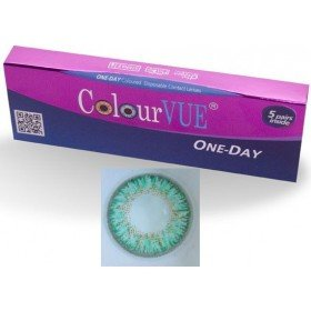 5 Pairs Of Daily Wear TruBlends Turquoise Coloured Contact Lenses