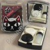 Black Cat Designer Contact Lens Travel Kit With Mirror