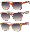 Wayfarer Style Sunglasses With Floral Design UV400 Protection a40160