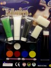 Halloween Makeup Set With Fake Blood, Paint Tubes With Sponge And Paint Pallet