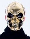Gold Metal Look Skull Mask Ideal For Halloween