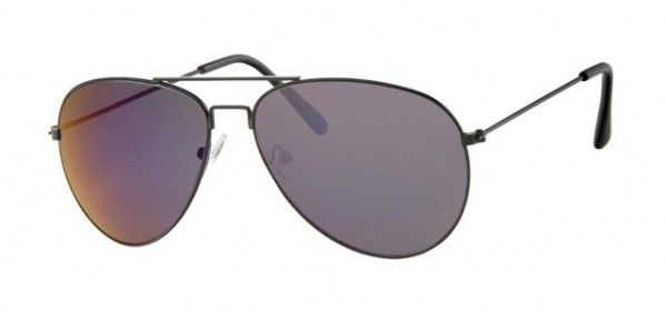 Unisex Brown Fade Sunglasses With Black Metal Frame UV400 Protection a30099
