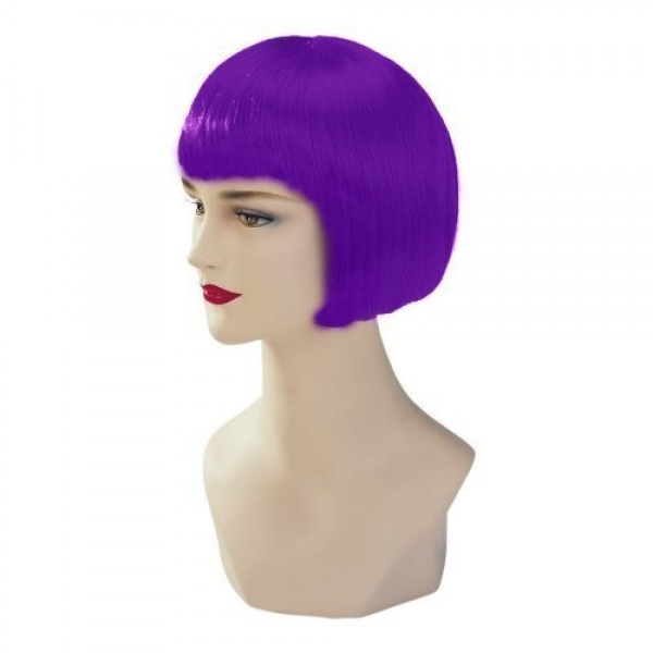 Violet Stargazer Adjustable Bob Style Fashion Wig